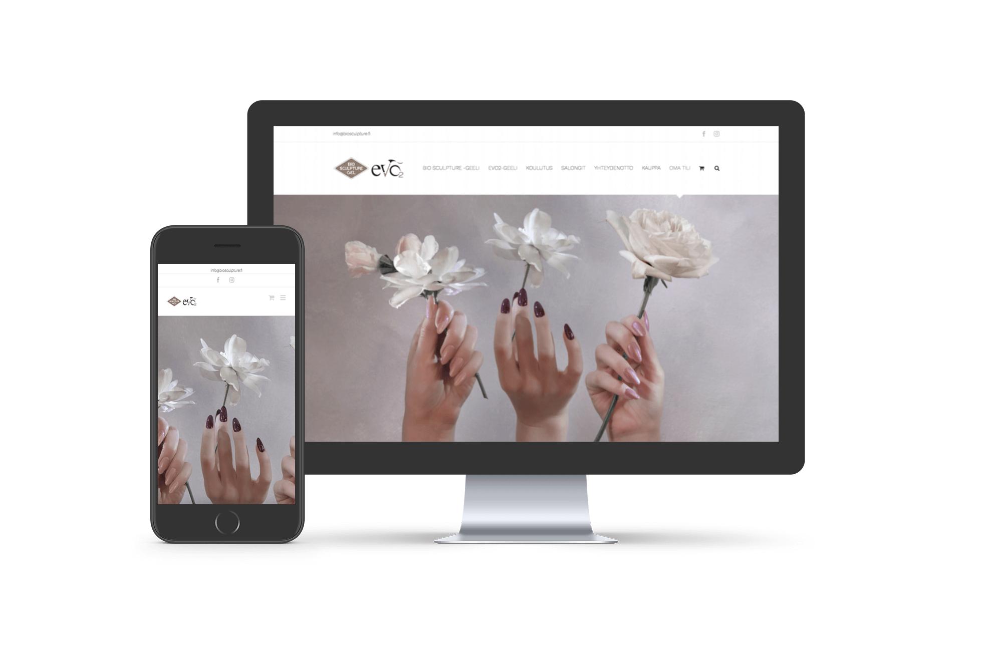 Bio Sculpture -verkkosivut