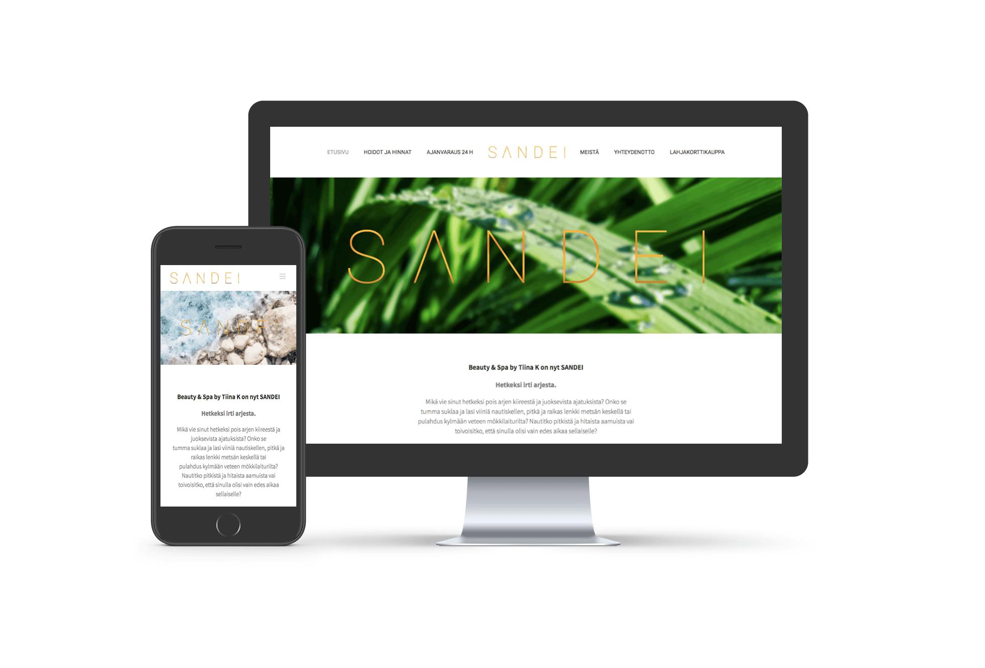 SANDEI-verkkosivut