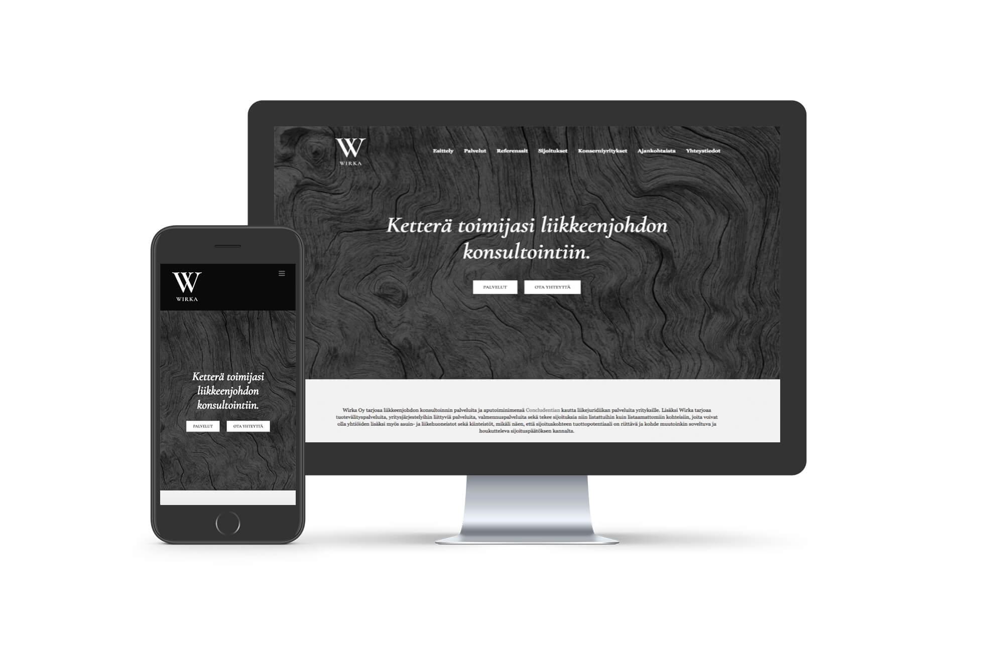 Wirka - WordPress-verkkosivut