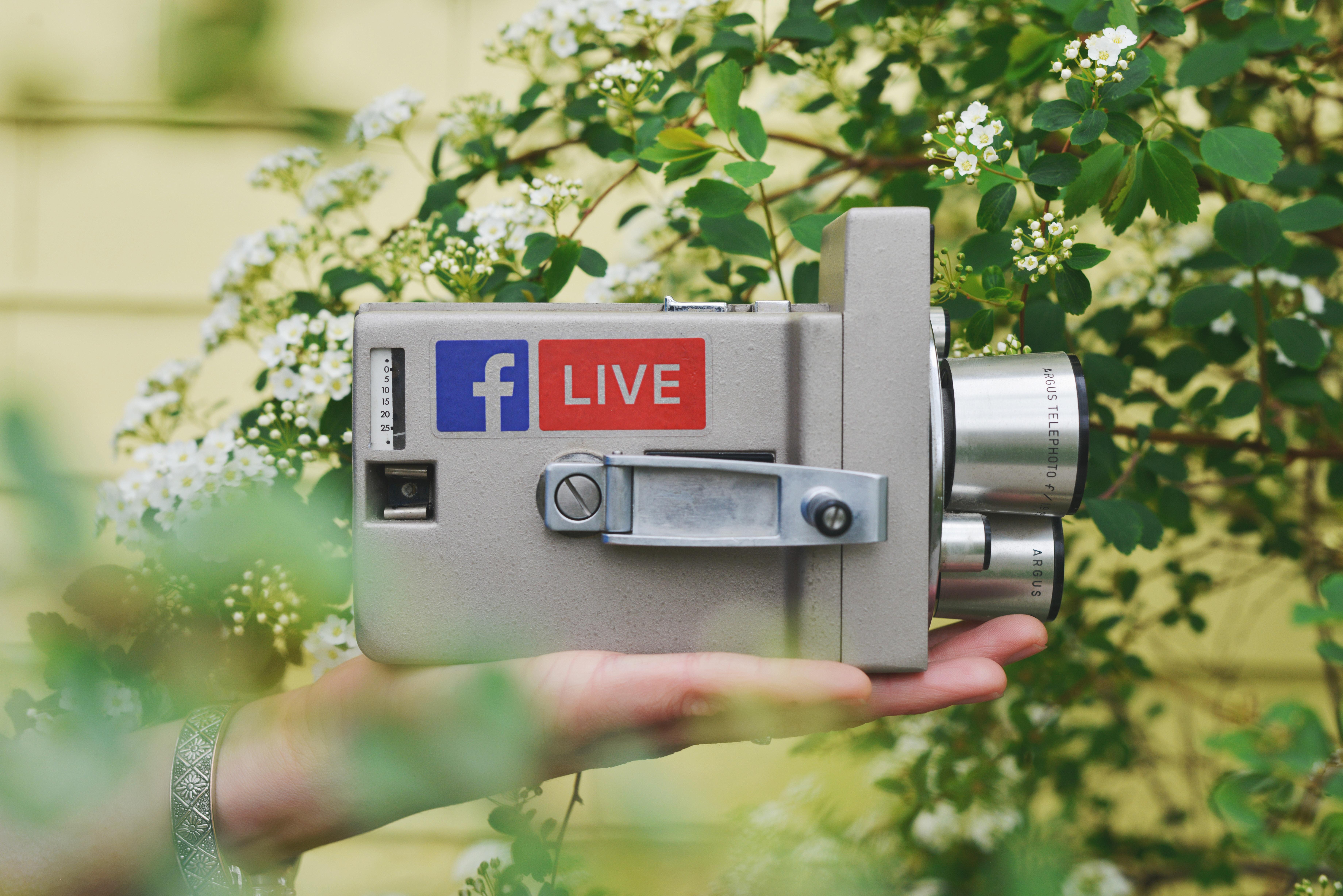 Livestriimaus onnistuu sekä Facebookin että Instagramin kautta.