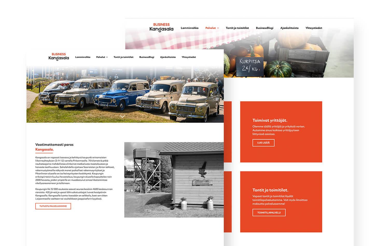Business Kangasala Oy:n verkkosivut