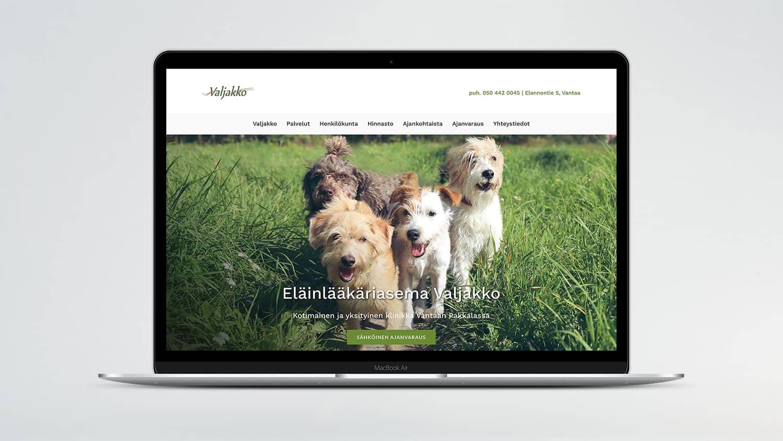 Eläinlääkäriasema Valjakon WordPress-verkkosivut